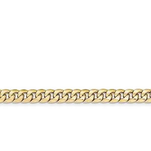 7 インチ 14k ホロー Miami Cuban チェーン ブレスレット(海外取寄せ品)|t2mart