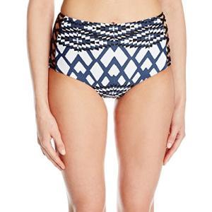 Seafolly レディース モダン Tribe ハイ ウエスト Lattice パント Bikini Bottom, Bluest(海外取寄せ品)|t2mart