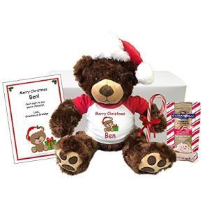 """クリスマス Teddy クマ パーソナライズ ギフト セット - 13"""" ブラウン Vera クマ ..."""