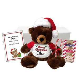 """クリスマス Teddy クマ パーソナライズ ギフト セット - 14"""" ブラウン Buxley ク..."""