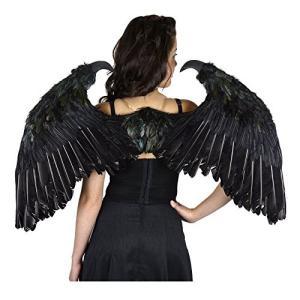 Zucker フェザー プロダクト Maleficent インスパイアー フェザー ウイングス, スモール, ブラック海外取寄せ品|t2mart