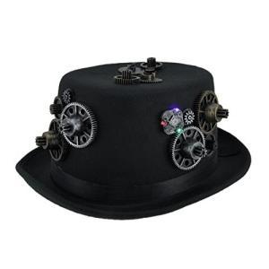 シンセティック メンズ コスチューム Headwear And ハット 17793 Head ギア Led Light Up スティーム海外取寄せ品|t2mart