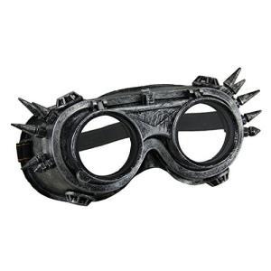 レジン メンズ コスチューム マスク M33225 メタリック シルバー Spiked スティームパンク アダルト コスチューム Wel海外取寄せ品|t2mart