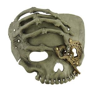 レジン メンズ コスチューム マスク M33218 ベージュ スティームパンク パイレーツ スカル W/Skeletal ハンド アダル海外取寄せ品|t2mart