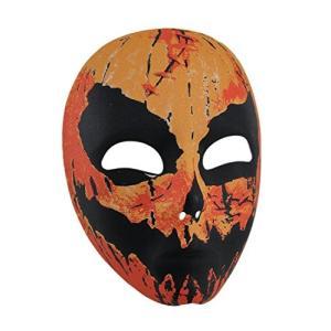 Plastic メンズ コスチューム マスク 17203 Creepy Pumpkin マン アダルト ハロウィン マスク 6.5 X 海外取寄せ品|t2mart