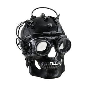 Plastic メンズ コスチューム マスク M39114 Cyborg スカル メタリック Finish スティームパンク スカル W海外取寄せ品|t2mart