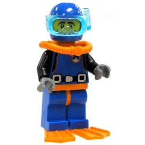 レゴ Minifigure コレクション Series 1 LOOSE ミニ Figure ディープ...