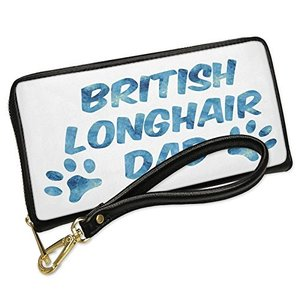 ウォレット Clutch Dog & Cat Dad British Longhair with リムーバブル Wristlet ス(海外取寄せ品)|t2mart