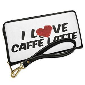 ウォレット Clutch I ラブ Caffi? latte コー??ヒー with リムーバブル ...