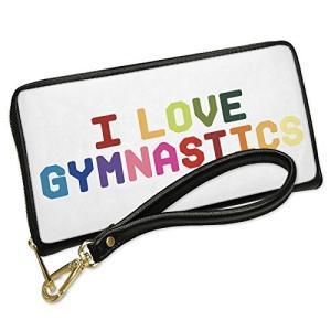ウォレット Clutch I ラブ Gymnastics,カラフル with リムーバブル Wris...