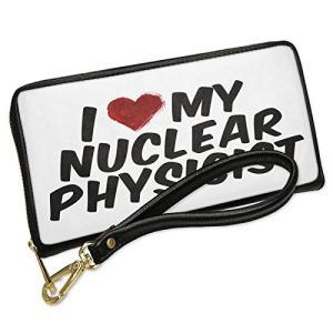 ウォレット Clutch I ハート ラブ my Nuclear Physicist with リム...