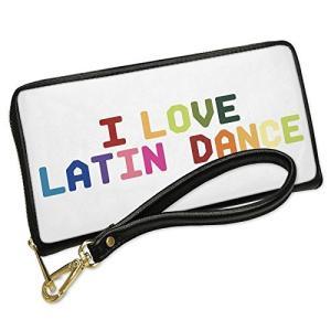 ウォレット Clutch I ラブ Latin ダンス,カラフル with リムーバブル Wrist...