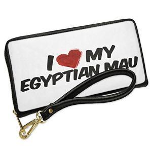 ウォレット Clutch I ラブ my Egyptian Mau Cat from Egypt w...