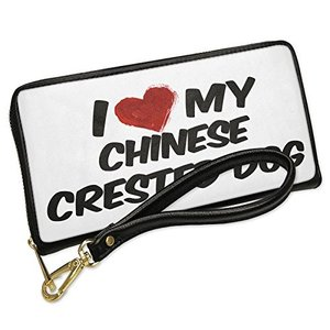 ウォレット Clutch I ラブ my Chinese Crested Dog from Chin...