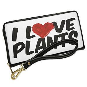 ウォレット Clutch I ラブ Plants with リムーバブル Wristlet ストラッ...