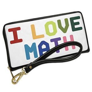 ウォレット Clutch I ラブ Math,カラフル with リムーバブル Wristlet ス...