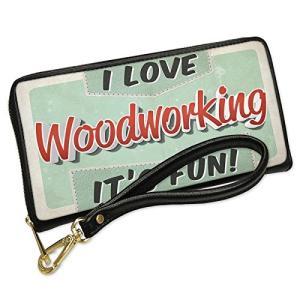 ウォレット Clutch I ラブ Woodworking, ヴィンテージ デザイン with リム...