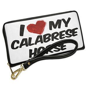 ウォレット Clutch I ラブ my Calabrese ホース with リムーバブル Wri...