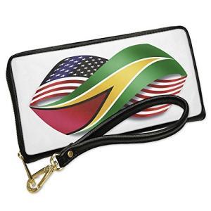 ウォレット Clutch Infinity フラグ USA and Guyana with リムーバ...