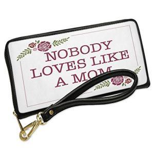 ウォレット Clutch Nobody ラブ Like a Mom Mother's Day レッド...