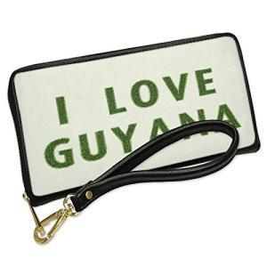 ウォレット Clutch I ラブ Guyana サッカー フィールド Grass with リムー...