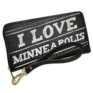 ウォレット Clutch Chalkboard with I ラブ Minneapolis with...