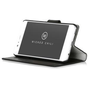 Wicked Chili by ドイツ ヨーロッパ産 高級牛革 プレミアム 本革 レザーケース 手帳型 マグネット式開閉  (Huawei P10) ta-creative