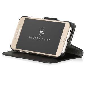 Wicked Chili by ドイツ ヨーロッパ産 高級牛革 プレミアム 本革 レザーケース 手帳型 マグネット式開閉(Samsung Galaxy A3 (2017)) … ta-creative