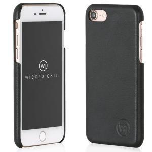 Wicked Chili by ドイツ ヨーロッパ産 高級牛革 プレミアム 手作り 本革 レザーケース (Apple iPhone 8/ 7, 黒) ta-creative