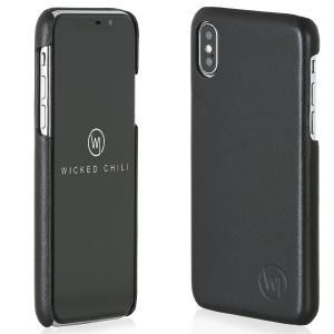 Wicked Chili by ドイツ ヨーロッパ産 高級牛革 プレミアム 手作り 本革 レザーケース (Apple iPhone X) ta-creative