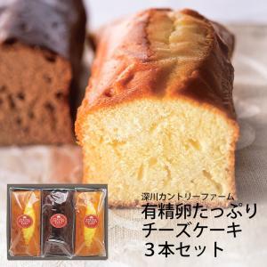 深川カントリーファーム 有精卵たっぷりチーズケーキ3本セット FYC-15 (97041-04) | 内祝い お歳暮 お菓子 パウンドケーキ|tabaki2