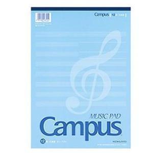 コクヨ 音楽帳(レポートタイプ)A4 5線譜12段片面印刷30枚 オン-70N (×5セット)|tabaki2