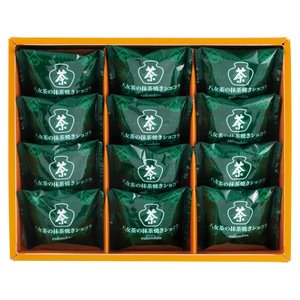 銀座コロンバン東京 八女茶の抹茶焼きショコラ 12個入 (G1717-102)|tabaki3