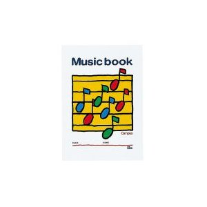コクヨ 音楽帳B5 5線譜8段 18枚 オン-24 (×20セット)|tabaki3
