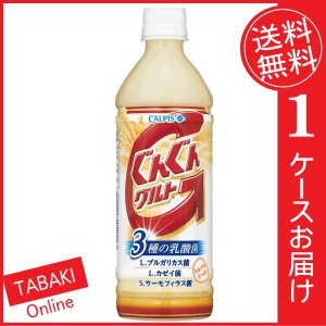 カルピス ぐんぐんグルト3種の乳酸菌 PET500ml ×24本 (送料無料)