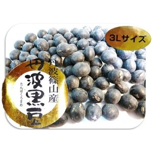 豆力 兵庫県篠山産 丹波黒大豆(特大粒3L) 200g×3袋