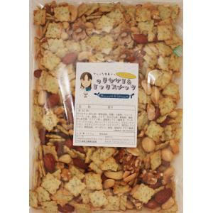 グルメな栄養士の のりセサミ&ミックスナッツ  500g【アーモンド/カシューナッツ/クルミ/マカダミア/セサミクラッカー】 nuts|tabemon-dikara