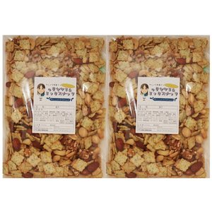 グルメな栄養士の のりセサミ&ミックスナッツ  1kg(500g×2袋)【アーモンド/カシューナッツ/クルミ/マカダミア/セサミクラッカー】 nuts|tabemon-dikara