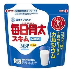 雪印メグミルク 毎日骨太 スキム 200g   【トクホ MVP 特定保健用食品 低脂肪】|tabemon-dikara
