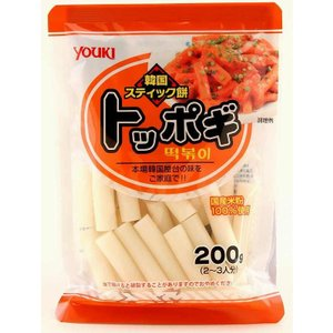 ユウキ食品 国産トッポギ  200g   【YOUKI 国内産 韓国食材 国内産米粉 韓国餅】|tabemon-dikara