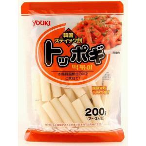 ユウキ食品 国産トッポギ  200g×20袋   【YOUKI 国内産 韓国食材 国内産米粉 韓国餅】|tabemon-dikara