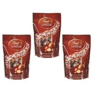 リンツ(Lindt)  リンドール ヘーゼルナッツパック 60g×3袋   【個包装 高級チョコレート トリュフチョコ】|tabemon-dikara