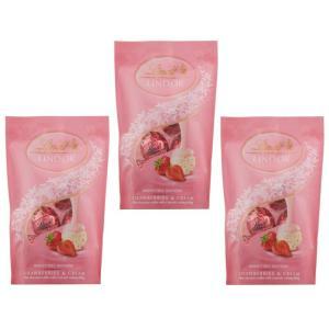 リンツ(Lindt)  リンドール ストロベリーパック 60g×3袋   【個包装 六甲バター QBB スイス 高級チョコレート トリュフチョコ】|tabemon-dikara