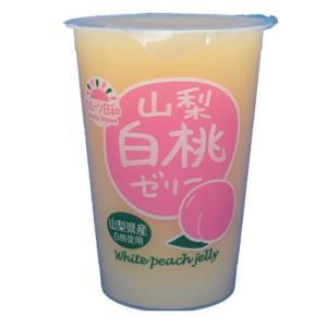 匠が推す 山梨白桃ゼリー 450g×12個 【北海道物産 フルーツ日和 もも】 tabemon-dikara