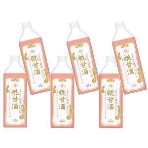 匠が大好きな 酒蔵仕込み純米 糀甘酒 850g ×6本    【福光屋 ペットボトル あまざけ  大袋 ビッグサイズ】 tabemon-dikara