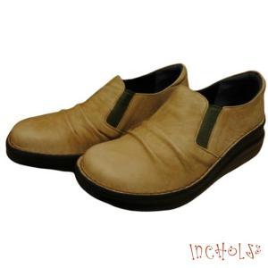 【インコルジェ 8303 キャメル】くしゅっとかわいい脱ぎ履きらくらくシューズ|tabikutsuya