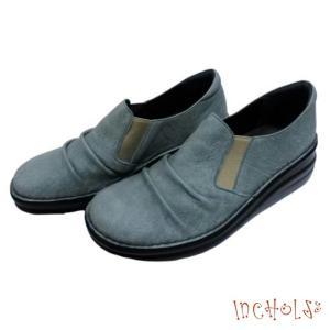 【インコルジェ 8303 ライトブルー】くしゅっとかわいい脱ぎ履きらくらくシューズ|tabikutsuya