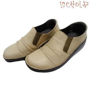 <ワケあり>【インコルジェ8303 キャメル 23.0】くしゅっとかわいい脱ぎ履きらくらくシューズ|tabikutsuya