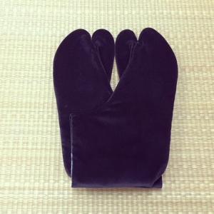 足袋 別珍足袋 ネル裏 4枚こはぜ 黒 25.0cm〜27.0cm tabinotane
