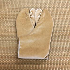 足袋 別珍足袋 ネル裏 4枚こはぜ 杏 21.5cm〜24.5cm tabinotane